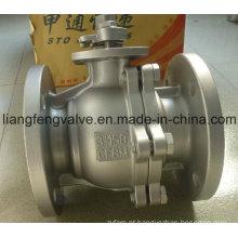 Válvula de esfera de extremidade de flange de RF com aço inoxidável