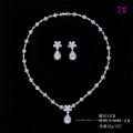 Set-189 Xuping fashion silver couleur bijoux design élégant deux pièces or blanc couleur mariage ensemble