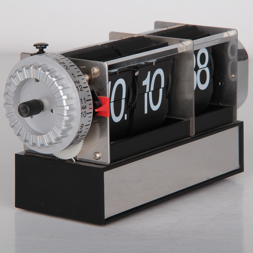 Vintage Alarm Clock with Flipping Numbers