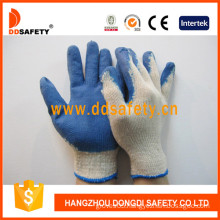 Hot-Selling White Polyester Black Latex Glove, Smooth Finished (DKL315)