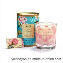 Vela de vidro Scented decorativa romântica da soja
