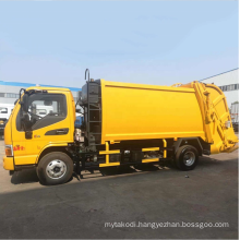 Automatical Electrical compressed rubbish vehicle Environmental Friendly Carriage Removable  Garbage Truck