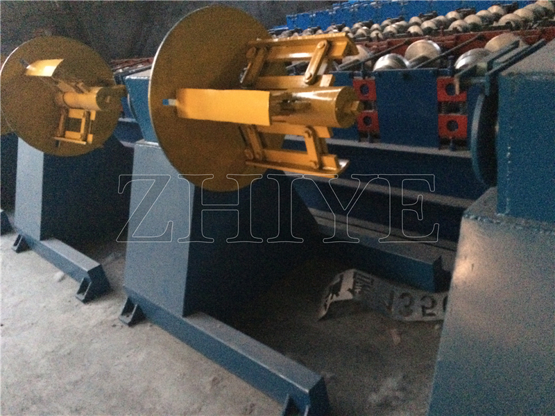 Blue Coated Steel Stack Racks Roll Forming Machine