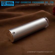 Emballage de bonne qualité de cosmétique 30ml de ZB-PR30 effilent flacon airless de rond couleur personnalisable 1 oz argent