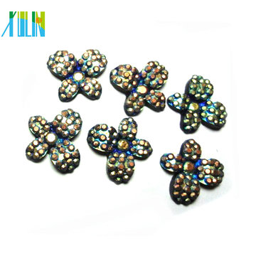 DIY fashion beads jewelry resin bronze rhinestone butterfly