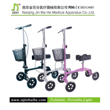 Steel Knee Scooter with Shopping Basket