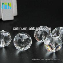 Perles en cristal à facettes boule en cristal