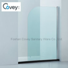 Bathroom Curved Corner Bathtub Screen/Rounded Edges Shower Screen (CVP009)