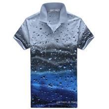 Moda Pólo personalizado, manga curta Polo T-Shirt para Homem
