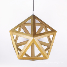 Modern Industrial Style chandelier light E27 Wood Pendant Lamp for Dining Room