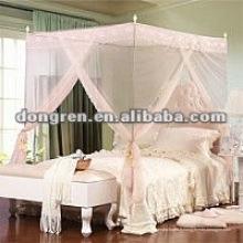 Design de mode de haute qualité avec moustiquaire en dentelle rose