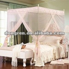 high quality fashion design with roses lace mosquito net