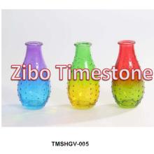 Floreros de cristal coloridos baratos de la decoración