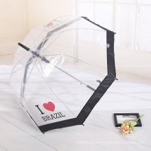 A17 paraguas claro transparente transparente del apolo con el logotipo de la impresión