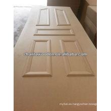 HDF / MDF piel de puerta moldeada con muchos designes