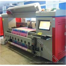 Imprimante à courroie pour l'impression directe d'encre réactive