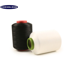 Spandex couvert d'air teint pour tricoter le fil de tissage de polyester filé