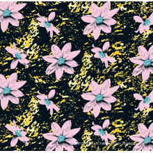 Woven Polyester Elegant Flower Printed Garment Fabric