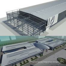 Steel Structure Building for Workshop and Warehouse with BV