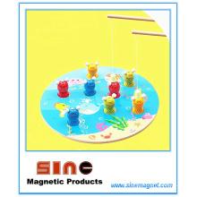 Hölzernes magnetisches Katzen-Fischen-Spielzeug / pädagogisches Spielzeug