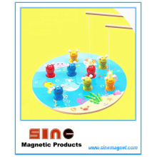 Juguete de pesca magnético de madera del gato / juguete educativo