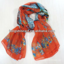 HA391-382 2014 new print butterfly scarf