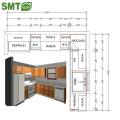 Современный дешевый простой стиль деревянный кухонный шкаф