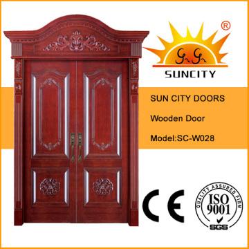 Royal Crown Exterior Wooden Entrance Wood Door (SC-W028)
