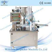 Máquina de enchimento e vedação automática de copo de água do tipo giratório