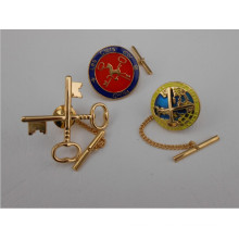 Gold Plated Metal Badge, National Emblem, Enamel Badge (GZHY-CY-015)
