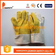 Guante de trabajo de lona de seguridad (DCD133)