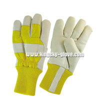 Cow Grain Acrylic Pile Lined Winter Working Glove (3150)