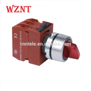 Interrupteur à bouton-poussoir à LED lumineux momentané de type rond de 22 mm