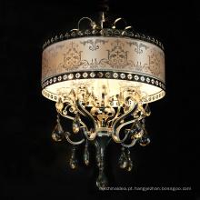 Venda quente Handmade Oval Forma Tamanho Pequeno Cristal Pingente Romântico Luz para Decoração