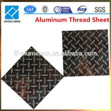 2015 Fabrik Preis Aluminium Checkered Platte und Blatt Gewicht
