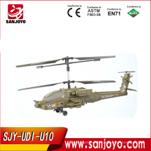 Emulación 2.4G HZ AH-64 Helicóptero Apache U10