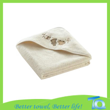 Eco Friendly Soft Bamboo Baby Embroidery Hooded Towel