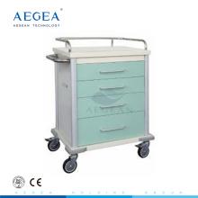 Schlussverkauf ! AG-MT027 Krankenhaus medizinische Farbe-Stahl Metall Rollwagen zu verkaufen