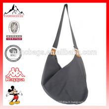 Vente chaude mode sac à main en toile sac à bandoulière pour les femmes