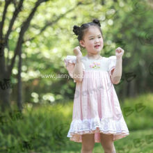 baby girl boutique flower easter dress
