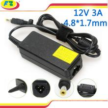 Cargador de batería portable para el ordenador portátil del asus 12v 3a 36w adaptador de la computadora portátil del adaptador de la CA 100-240v de 4.8 * 1.7mm