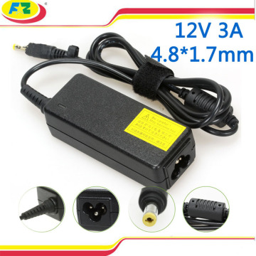 Tragbares Ladegerät für asus Laptop 12v 3a 36w 4.8 * 1.7mm ac 100-240v Laptop Adapter