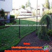 4' x 50' 9 gauge black vinyl residential chain link fence