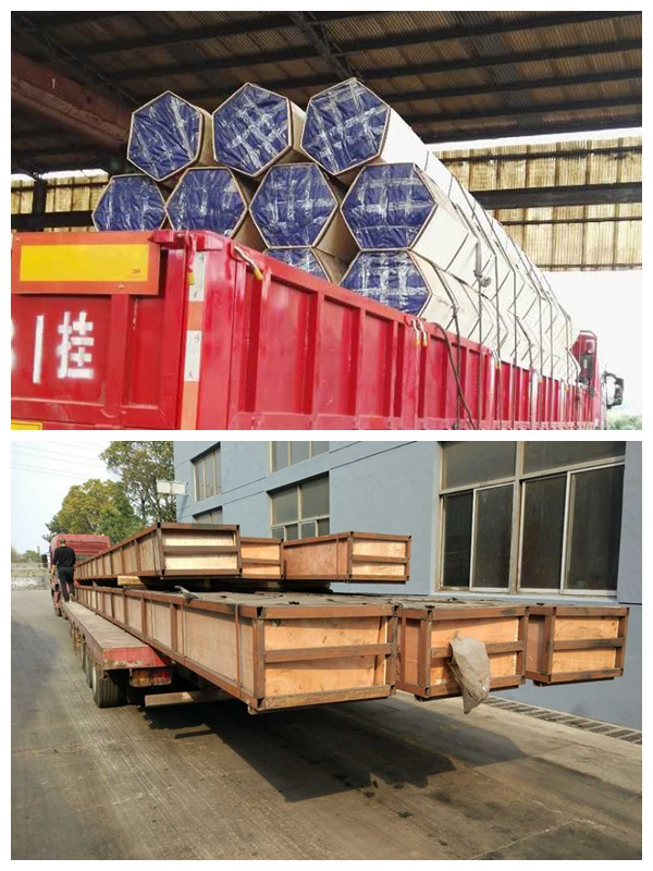 seamless pipe wooden box package