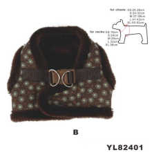 Soft Plush Fur Dog Harness, Warm Dog Clothes (YL82401)
