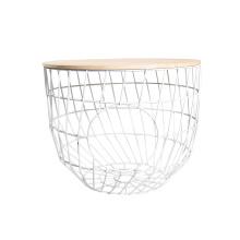 EASTOMMY Hot Selling Metal Basket End Table