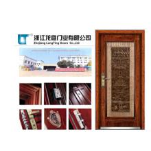 Luxuriöse moderne Stahl Holz Außentür