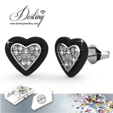 Destiny Jewellery Crystals From Swarovski Heart Stud Earrings