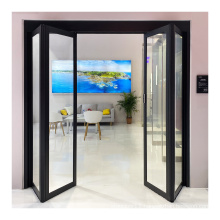 Deper Z20 house apartment interior door glass folding door system automatic folding door