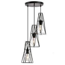 Metal Mesh Shade Ceiling Light with 3 lamps